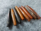 (8) OLD Original Buffalo Horn Hair Pipe Sioux Indian Beads Fur Trade 1700's