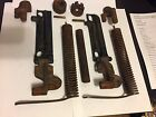 2 OLD ANTIQUE TREADLE SEWING MACHINE SINGER CABINET TOP SPRING LIFT MECHANISM