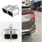 Car Exhaust Pipe Modification Universal 24 Stainless Steel Dual Straight Pipe