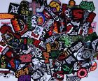 Random Lot of 50 Rock Band Patches Iron on Music Punk Roll Heavy Metal Sew