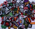 Random 50 Embroidered Iron On Patch Band Music Punk Rock Roll Heavy Metal Sew