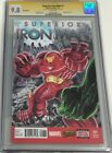 Superior Iron man #1 Sketch Cover Signed & Sketched by Alex Kotkin CGC 9.8 SS