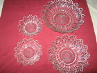 4  Federal Glass  Dish Bowls  Petal Pointed Edges