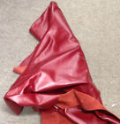 BR724 Leather Cow Hide Cowhide Upholstery Craft Fabric Tomato Red