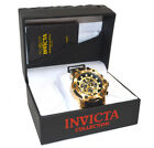 Authentic Invicta Bolt Men's Watch Stainless Steel Gold Black Chronograph