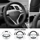 Soft & Smooth PU Leather Steering Wheel Cover for Honda Civic 2007-2012 - Gray