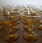 4 Libbey Forever Amber tall champagne/sherbert glasses more available