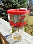Vtg Hazel Atlas Pheasant Hunting Tumblers Shaker Mixer with Plastic Lid -- NOS