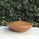 Vintage Copper Pan Chafing Dish With Handles MCM Mid Century Modern 9.5