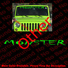 Monster Windshield Vinyl Decal Car Window Banner Jeep Wrangler Accessories Rc121