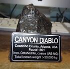 128 gm  CANYON DIABLO IRON METEORITE  TOP GRADE  ARIZONA