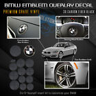 For Bmw All Emblem Overlay Sticker Decal Complete Set Pack - Matte Carbon Fiber