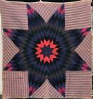 WOOL LONE STAR QUILT   LANCASTER COUNTY, PA    c.1880's  75