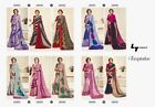 ndian Ethnic Bollywood Beautiful Designer PARTY Wear silk+cotton+georgette Sari