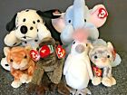 Retired Ty Beanie Baby & Pillow Pals SQUIRT SPOTTY SILVER AMBER CHEEKS KUKU