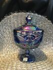 Vintage LE Smith Carnival Footed Candy Dish Celebrating the Bicentennial