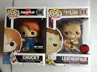 Leatherface chase & Chucky bloody 25th anniversary exclusive pop funko vinyl fig