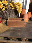 Vintage WOODEN BOX Rustic Farmhouse Tool Tote Harvest Table Cubby Tray Primitive