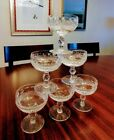 Waterford Crystal Colleen Champagne Tall Sherbert Glasses 6 total
