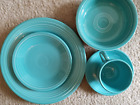 1988 Turquoise Fiesta 5 PC Place Setting -13 Yrs Unused-Excellent Vtg Condition!