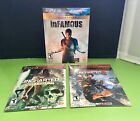 Ps3 New Playsation 3 Game Lot, Uncharted, Uncharted 2 And Infamous Rated T