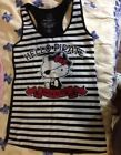 Women's pirate hello kittty strip vest size s Free Shipping