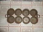 VINTAGE Antique EARLY CENTURY PRIMITIVE ANTIQUE TIN CUPCAKE MUFFIN BREAD PAN