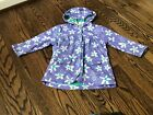 Hatley Crafty Flowers 3 Girl's Rain Coat Size 3