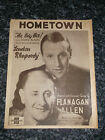 HOMETOWN BY JKENNEDY  M CARR MUSIC SHEET VINTAGE