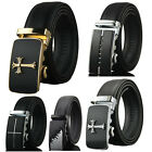 Mens Dress Belt Genuine Leather Exact Fit Automatic Buckle Ratchet Belt