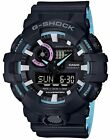 NEW CASIO G-SHOCK GA-700PC-1AJF Neon accent Color Black Blue Watch from Japan