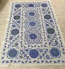 ANTIQUE UZBEK OLD HANDMADE 100% ORIGINAL  EMBROIDERY WALL HANGING SUZANI