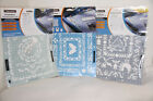3 Fiskars Shape Boss Embossing Stencil Sets French Cuntry Circle Swirl Victorian