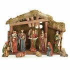 Burton  Burton Woodland Moss Covered Creche Nativity Set