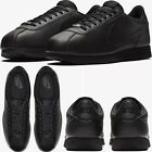 Nike Cortez Basic Leather Black Anthracite Mens Comfy Shoes Lifestyle Sneaker