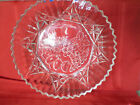 VTG FEDERAL CLEAR GLASS SCALLOPED SAWTOOTH EDGE FRUIT SERVING BOWL DISH