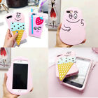 3D Barbapapa Ice-cream Drinks Soft Silicone Phone Case Cover For iPhone 7/8 Plus