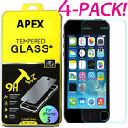 4Pcs Premium Real Screen Protector Tempered Glass Film For iPhoneE 6 6s 7 Plus