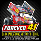 FOREVER41 Jason Johnson World of Outlaws Vinyl Decal Sticker Forever41