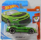 HOT WHEELS 164 SUPER TREASURE HUNT 2017 CAMARO ZL1 GREEN SHORT CARD