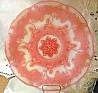 FENTON French Opalescent CAMEO GLASS Connoisseur Gold Ruby BOWL PLATE 14 Pink