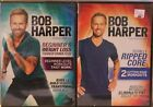2 Bob Harper workout DVD lot Totally Ripped Core Beginners weight Loss fitness