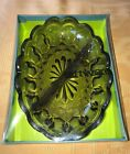 Vintage Fairfield Anchor Hocking Brown Glass divided dish relish NEW IN BOX