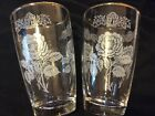 Libbey White Rose Crown Cordial Tumbler Drinking Glasses Lot of 2