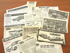 12 PC  MODEL KIT INSTRUCTION SHEETS ASSEMBLY MANUALS  FORD, Chevy, Mopar - NICE