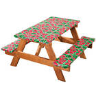 Watermelon Vinyl Picnic Bench Table Cover Deluxe Flannel Backed