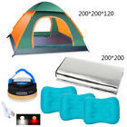 Beach Waterproof Tent White/Red LED Rechargeable Flashlight Camping Grass Mat C