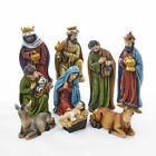Kurt Adler 8Resin Nativity Tablepiece 9Pc