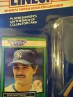 STARTING LINEUP 1989 DON MATTINGLY with card. Would be PSA 10 IF GRADED. .