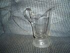 Small Clear Glass Pitcher With A Frosted Designed Bottom 6 3/4